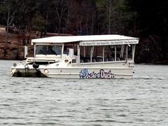 duck on the lake (frankieleon) Tags: water car truck duck interestingness interesting bestof cc creativecommons float popular stonemountain amphibious frankieleon gmcarmyduck