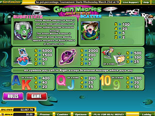 free Green Meanies slot mini symbol