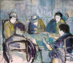 07 óleo sobre lienzo   145x166 cm 1996 (arteneoexpresionista) Tags: rando jorge cartas jugadores