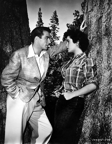1951: Montgomery Clift (1920 - 1966) and Elizabeth Taylor star in the melodrama 'A Place In The Sun', directed by George Stevens for Paramount.