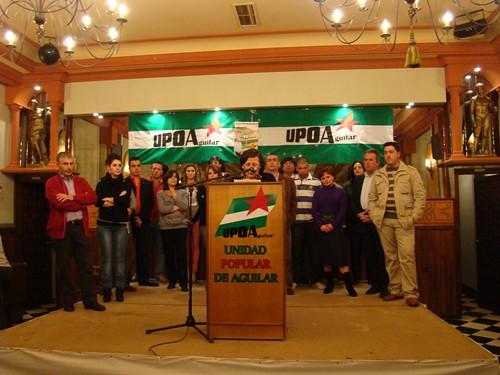 Presentada la candidatura de UPOA en Aguilar de la Frontera 5555404957_69ae11c7e3