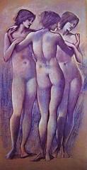 Burne-Jones, EdwardThe Tree Graces, ca.1885 (chauvin.chloe) Tags: art peinture graces mythologie burnejones contemporain divinit