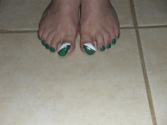 nails 3-9-11 038 (kellt2010) Tags: white green long very toenails