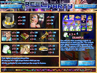 free Reel Party Platinum slot mini symbols