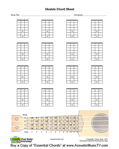 Essential Chords Ukulele Blank Chord Boxes A Photo On Flickriver