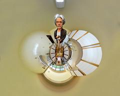 Krug Bier (BongoInc) Tags: brazil panorama distortion selfportrait kitchen beer brasil photoshop experimental drink cerveja bighead ptgui flexify stereographicprojection krugbier