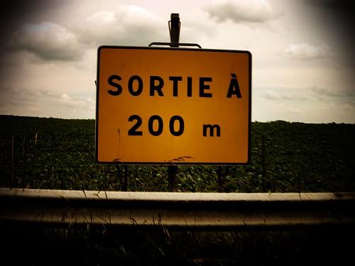 Sortie A 200 m