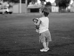 Never Alone (sLorenzi) Tags: boy bw baby walking 50mm panasonic g1 zenitar f17