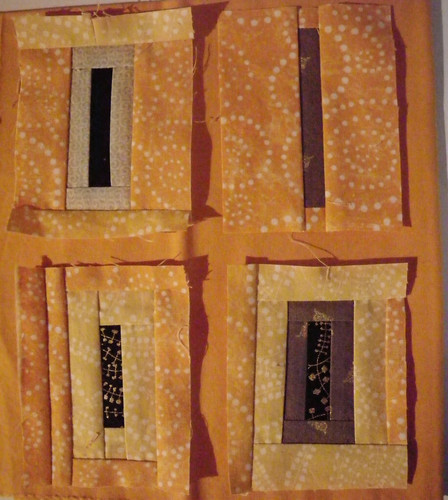 Blocks for A Kiss in Time quilt, they are cheddar coloured!