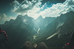 Paragliding South Tyrol (schmidtadrian) Tags: waldheim trentinoaltoadige it sesto dolomites italy paragliding travel sky clouds mountains freedom flying air alpine adventure aerial