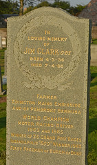 Gentleman Jim (Feversham Media) Tags: jimclarkobe scotland jimclark berwickshire formulaone chirnside chirnsidechurch f1 chirnsidekirk motorracing gravestones scottishborders