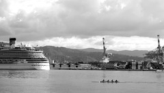 Remeros (Lady Smirnoff) Tags: men hombres athletes atletas laspezia italia italy mar sea barco ship