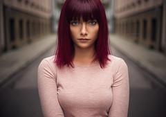 Ariel (AlexanderStegerArt) Tags: outdoor model red cute symmetrie sonya7r sony streetstyle street makeup beauty naturallight