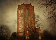 Barons Castle... (Wire_cat) Tags: photoshop northamptonshire textures oldwatertower manipulatedimage privateresidence finedon wirecat finedonwatertower