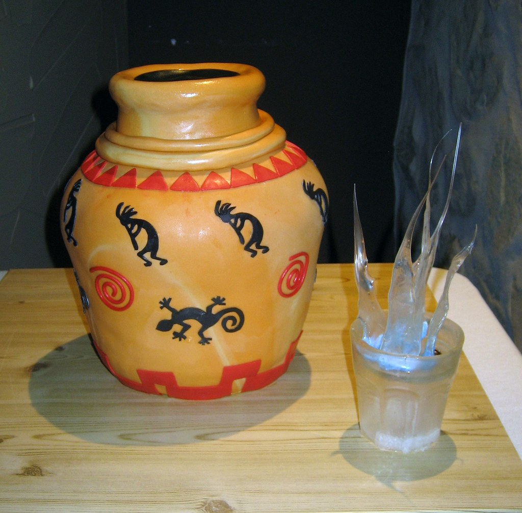 Southwestern pottery and Sambuca