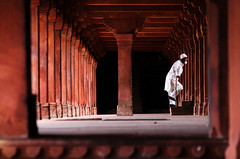 as in a stone theater (alex@Tln) Tags: red people india colors stairs nikon perspective fatehpursikri colonnade decisivemoment ancientcities 75150 75150mmf35e 75150mm