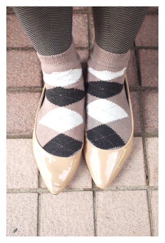 Herringbone tights & Argyle socks