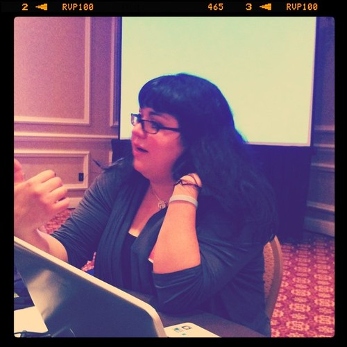 Project 365 26/365: At the photo workshop listening to @secretagentmama talk cameras and ISO's. #Blissdom
