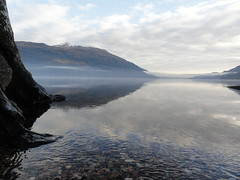 January day at loch lomond (Michael Grey!) Tags: benlomond lochlomond lakescene scottishwinter michaelgrey mistonlake scotlandinwinter dunaber scotlandinjanuary