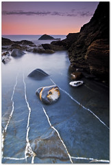 white stripes (chris frick) Tags: longexposure sea italy seascape dusk liguria tripod wideangle filter lee bluehour gitzo ballhead albenga meditarraneansea isolagallinara lowpointofview canonef1635mmf28liiusm chrisfrick canoneos5dmark2 075gndhard