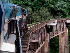 Across the bridge .... (Jay fotografia) Tags: india tourism karnataka trainspotting indianrailways sakleshpur irfca wdg4 shiradighats jayasankarmadhavadas greentrekk