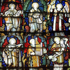 Lichfield Cathedral - St Chad's Head Chapel (kestrel49) Tags: uk england window glass europe cathedral britain interior stainedglass 11 gb staffordshire stainedglasswindow lichfield staffs 2011