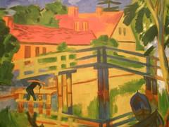 Max Pechstein 'Early Morning , Leba, 1922, Milwaukee Museum of Art, Milwaukee, Wisconsin (hanneorla) Tags: wisconsin paintings milwaukee 1922 sculptures 2010 leba installations milwaukeemuseumofart hanneorla modernandcontemporaryart maxpechsteinearlymorning
