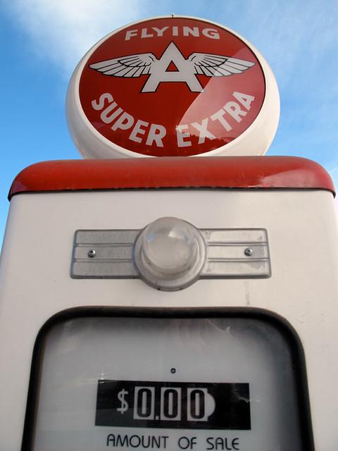 Gas pump, Flying A, Truckee, CA
