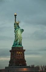 Liberty (Chapmanc123) Tags: new york city nyc newyorkcity light sky usa apple statue ferry clouds america river circle liberty freedom big dusk manhattan low line americana hudson statueofliberty 18200 vr 18200mm d90