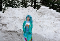 Day 62 of 365 - Year 2 (wisely-chosen) Tags: selfportrait snow me january canon50mmf18 bluehair 2011 365days naturallycurlyhair manicpanicbadboyblue curlformers adobephotoshopcs5extended