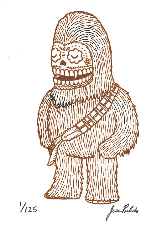 Star Wars Mexican Traditional Art - chewaka