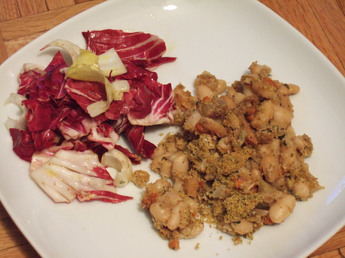 Cannelini gratin and radicchio fennel salad