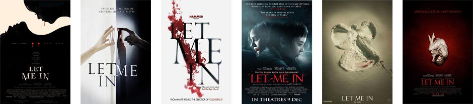 Distintos posters de la película Let Me In