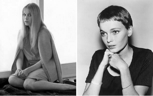 Mia Farrow long hair