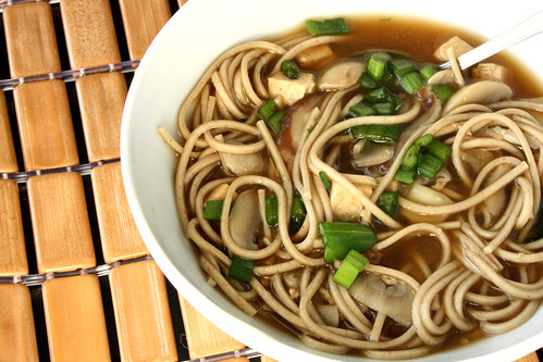 Michael Smith's Mushroom Miso Broth with Buckwheat Noodles