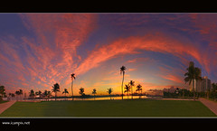 Rainbow Sunset (Press L on your keyboard for Large View) (iCamPix.Net) Tags: panorama sexy canon florida miami miamibeach southbeach superwideangle southpointe topshots nakedeye floridasun abigfave miamisunset anawesomeshot colorphotoaward ultimateshot lifeonthebeach natureselegantshots southbeachsunset vertoma xmaxprocessing xmax9105p