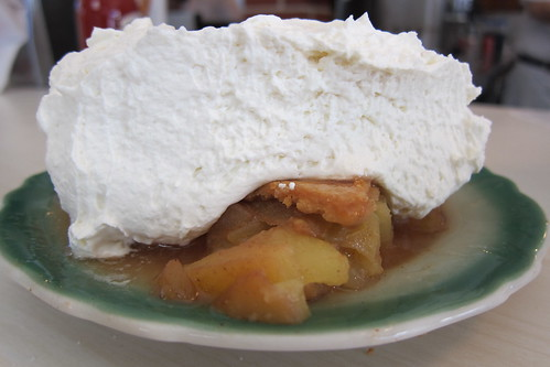 The Apple Pan: Apple Pie with Whipped Cream