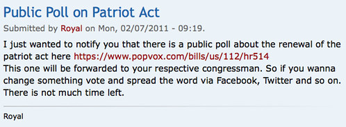 Public Poll on Patriot Act