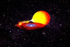 Artist's impression of a neutron star in a binary system