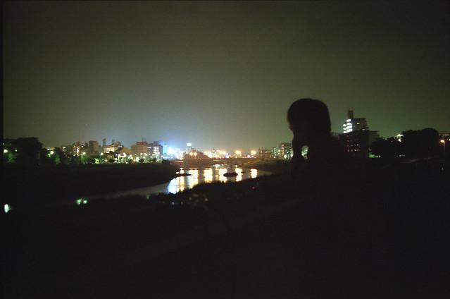 街の夜景のフリー写真素材