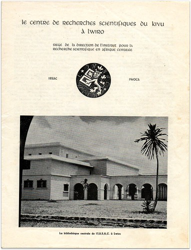 Historique de l'IRSAC à Lwiro (Kivu)