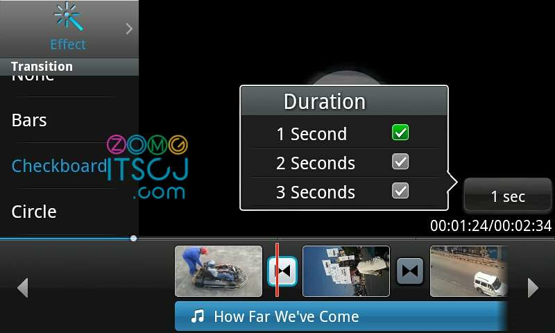 Samsung Video Editor: Effect