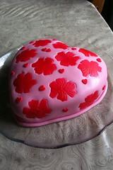 Sweet heart! (Xquisite cakes) Tags: pink flowers flower love cake southafrica yummy pretty heart delicious handpainted valentines vanilla heartshaped fondant buttercream whitecake sugarpaste flowerpaste shimmerdust