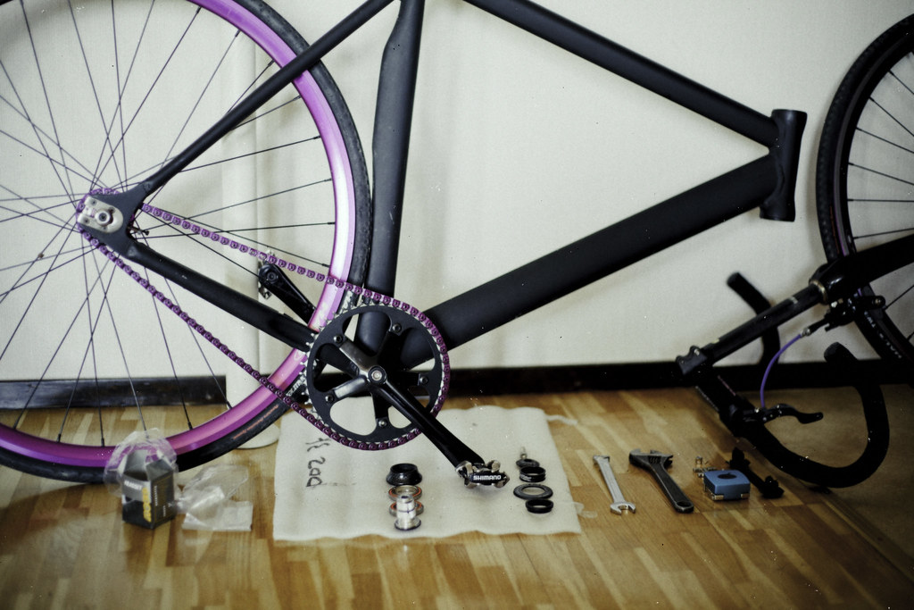 When the living room becomes a bike repair shop