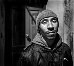 This Is Lennox: He Is Homeless And Tired (Mark L Edwards) Tags: street london liverpool blackwhite homeless slowshutterspeed lennox 30yearsold dapagroupmeritaward3