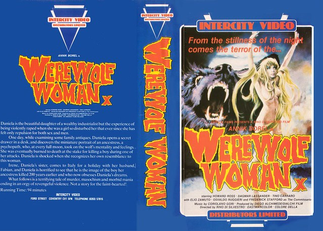 WEREWOLF WOMAN (VHS Box Art)