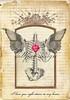 I Love You Right Down To My Bones (ms_mod) Tags: art love collage skeleton wings heart gothic victorian valentine ephemera bones etsy greetingcard sacredheart vintagepaper dollfacedesign