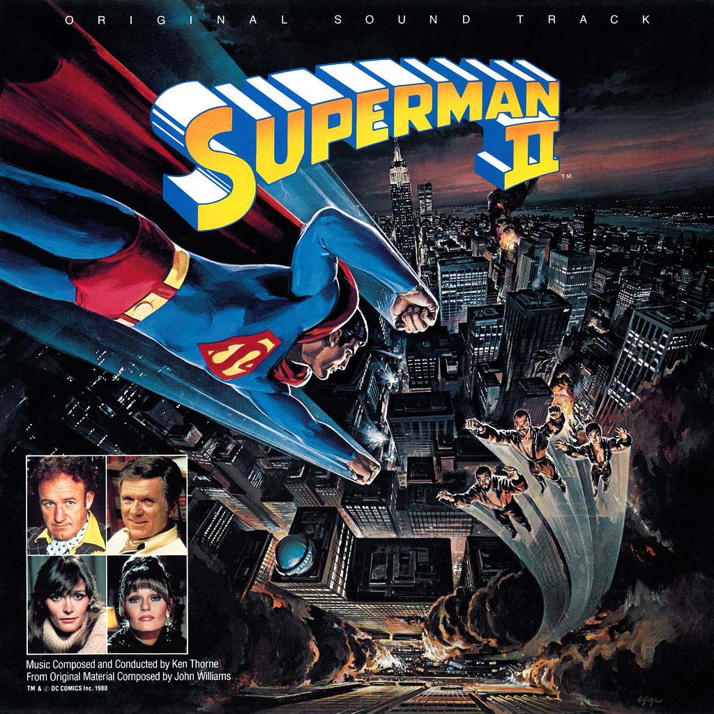 Superman Ii Lp Cover Art