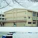 校庭の雪原