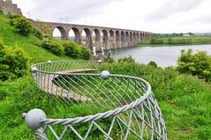 Fishing (Tony Shertila) Tags: bridge england water river fishing europe britain curves railway arches explore northumberland northumbria pillars northeast tweed berwickupontweed newvision mygearandme peregrino27newvision